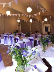 Function room ready for party